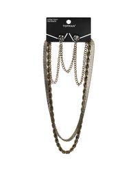 TOPMAN | Metallic Skull Collar Tips and Necklace for Men | Lyst