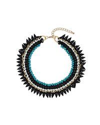 TOPSHOP - Blue Five Row Turquoise Collar - Lyst