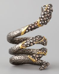 Alexis Bittar | Metallic Pave Crystal Coiled Snake Ring | Lyst
