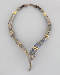 Alexis Bittar | Metallic Pave Crystal Snake Necklace | Lyst