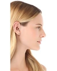 Blanca Monros Gomez - Green Little Emerald Stud Earrings - Lyst