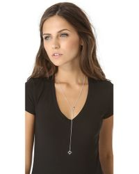 Jennifer Zeuner - Metallic Open Star Lariat Necklace - Lyst