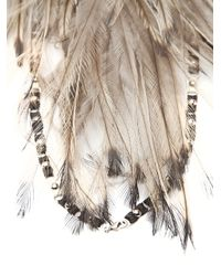 Clemmie Watson | Multicolor Feather Halter Necklace | Lyst