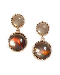 BaubleBar | Gray Double Opal Drops | Lyst