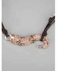 Ermanno Scervino - Pink Roze Metal Necklace - Lyst