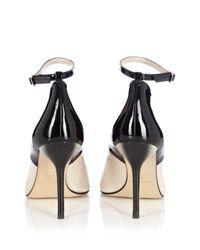 Karen Millen - Black Ankle Strap Peep - Lyst