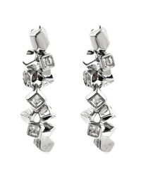Karen Millen | Metallic Cube Cluster Earring | Lyst