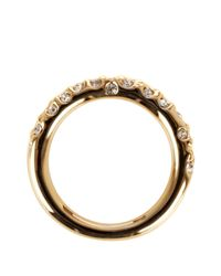 Karen Millen | Metallic Crystal Sprinkle Ring | Lyst