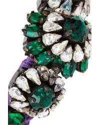 Shourouk - Green Baraka Rococo Swarovski Crystal Bracelet - Lyst