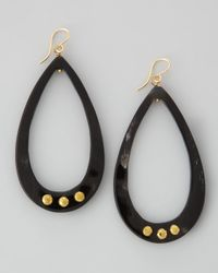 Ashley Pittman | Black Chozi Horn Teardrop Earrings | Lyst
