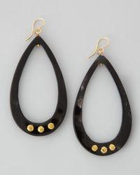 Ashley Pittman - Black Chozi Horn Teardrop Earrings - Lyst