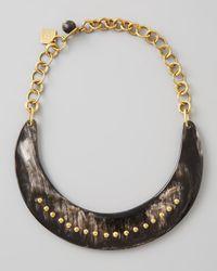 Ashley Pittman - Black Kaba Collar Necklace Dark Horn - Lyst