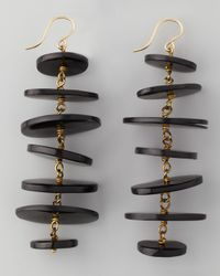 Ashley Pittman - Black Kuyuga Multitiered Disk Earrings Dark Horn - Lyst