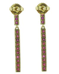 Finn - Purple Long Ruby Stick Earring - Lyst