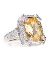Judith Ripka | Metallic Olivia Canary Cubic Zirconia Ring Size 7 | Lyst