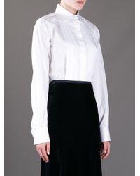 Vanessa Bruno - White Pleat Front Shirt - Lyst