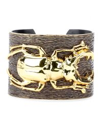 Iam By Ileana Makri | Metallic Goldplated Beetle Cuff Bracelet | Lyst