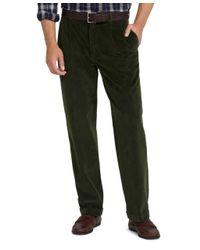 Brooks Brothers Green Elliot 8wale Corduroy Pants for men