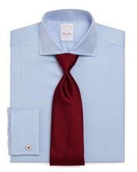 Brooks Brothers | Blue Golden Fleece® Madison Fit Herringbone French Cuff Dress Shirt for Men | Lyst