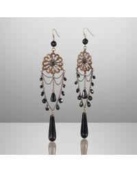 Ralph Lauren - Black Onyx Chandelier Earrings - Lyst
