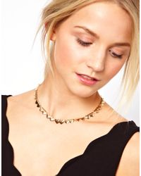ASOS - Metallic Heart Link Necklace - Lyst