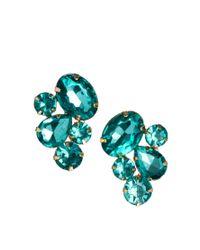 ASOS - Green Asos Party Jewel Earrings - Lyst