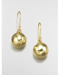 Ippolita | Metallic Glamazon 18k Yellow Gold Mini Ball Drop Earrings | Lyst