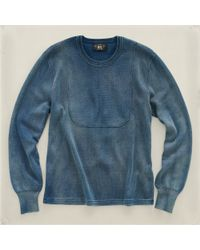 RRL | Blue Crew-neck Pullover for Men | Lyst
