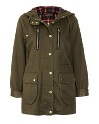 TOPSHOP | Green Tall Hooded Lightweight Jacket | Lyst