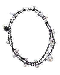 Antonella Filippini - Metallic Pearly Necklace - Lyst