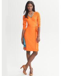 Banana Republic - Orange Gemma Wrap Dress - Lyst