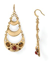 Carolee | Metallic Moroccan Mirror Teardrop Chandelier Earrings | Lyst