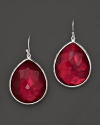 Ippolita | Red Sterling Silver Wonderland Teardrop Earrings In Raspberry Doublet | Lyst