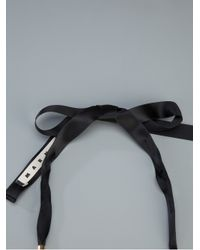Marni | Black Ribbon and Resin Necklace | Lyst