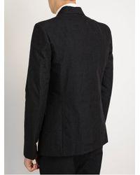 The Viridi-anne - Black Tailored Cottonwool Jacket for Men - Lyst