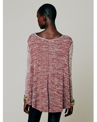 Free People | Red Hacci Sunday Tee | Lyst