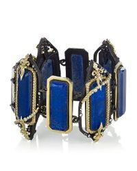 Armenta | Blue Lapis Lazuli and Diamond Link Bracelet | Lyst