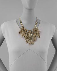 Colette Malouf - Metallic Ava Wiretassel Bib Necklace - Lyst