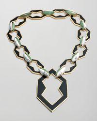 Eddie Borgo   Metallic Peaked Link Pendant Necklace   Lyst