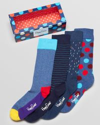 Happy Socks - Multicolor 4pack Printed Socks with Multi Dot Box for Men - Lyst
