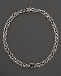 John Hardy | Classic Chain Small Braided Necklace With Black Sapphire, 18"