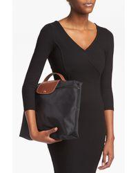 Longchamp | Black 'le Pliage' Briefcase | Lyst