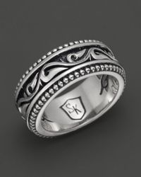 Scott Kay | Metallic Mens Sterling Silver Sparta Engraved Ring for Men | Lyst