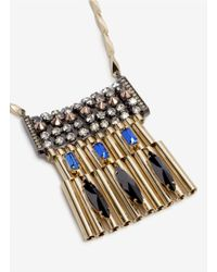Iosselliani - Metallic Rhinestone Detailed Pendant Necklace - Lyst