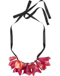 Marni - Pink Horn Necklace - Lyst