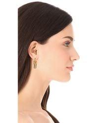 Tom Binns   Metallic Crown Razor Blade Earrings   Lyst