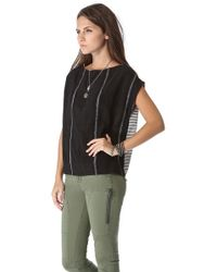 Ace & Jig - Black Shell Top - Lyst