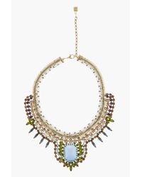 DANNIJO | Blue Stone Crystal Embellished Eva Necklace | Lyst