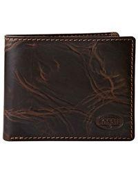 Fossil - Brown Norton Zip Bifold Wallet for Men - Lyst