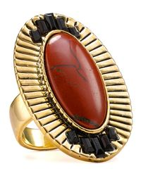 House of Harlow 1960 | Metallic Electric Charge Red Jasper Cocktail Ring | Lyst